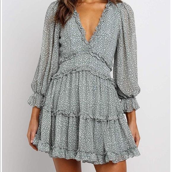 Dresses & Skirts - Ruffle Mini Swing Dress